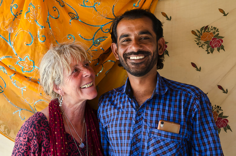 Alex Smith & Aladdin Khanat Sofiana Guesthouse,Jaisalmer, Rajasthan, India